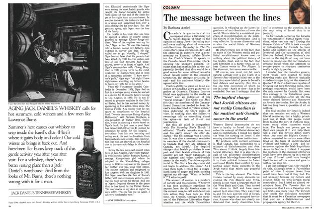 Article Preview: The message between the lines, April 1988 | Maclean's