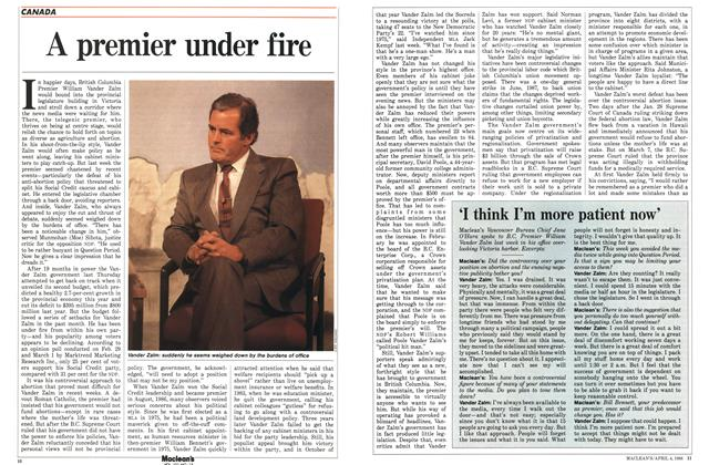Article Preview: A premier under fire, April 1988 | Maclean's