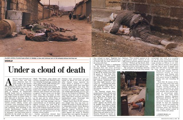 Article Preview: Under a cloud of death, April 1988 | Maclean's