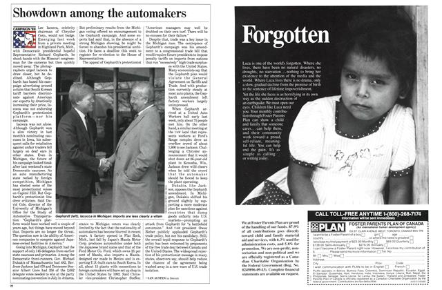 Article Preview: Showdown among the automakers, April 1988 | Maclean's