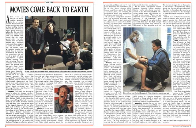 Article Preview: MOVIES COME BACK TO EARTH, April 1988 | Maclean's