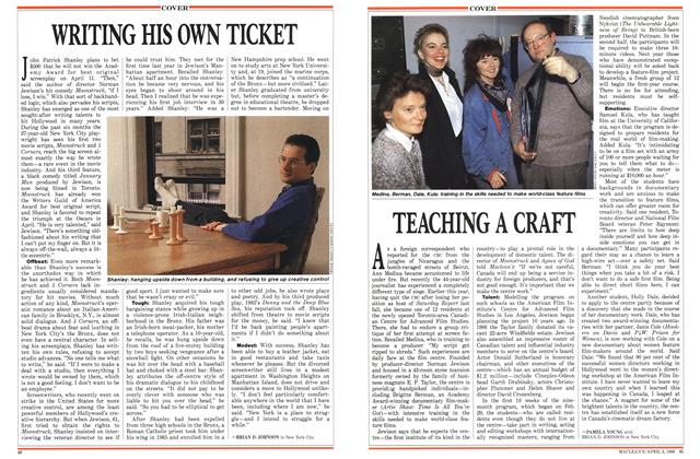 Article Preview: WRITING HIS OWN TICKET, April 1988 | Maclean's