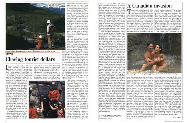 Article Preview: Chasing tourist dollars, April 1988 | Maclean's