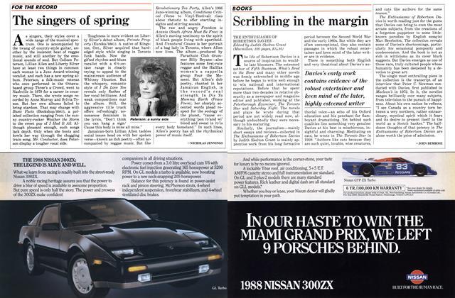 Article Preview: Scribbling in the margin, April 1988 | Maclean's