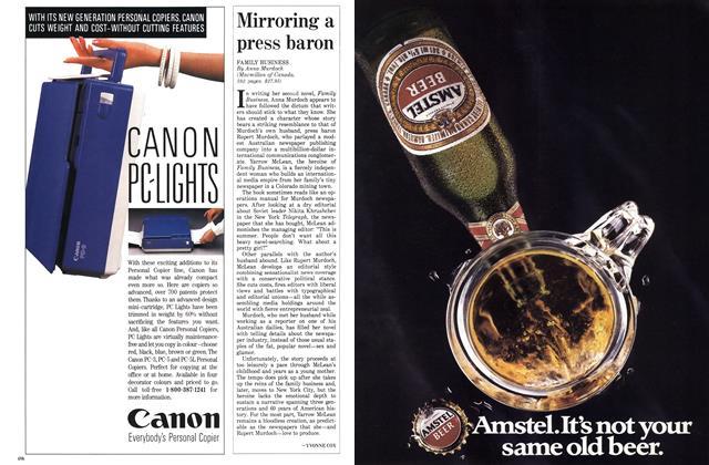 Article Preview: Mirroring a press baron, April 1988   Maclean's