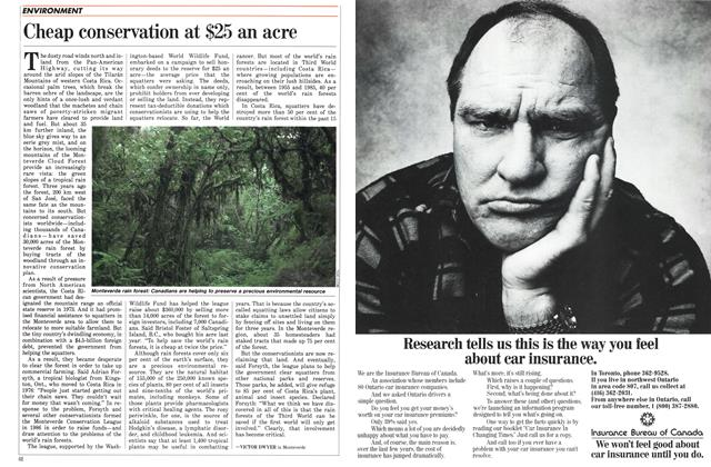 Article Preview: Cheap conservation at $25 an acre, April 1988 | Maclean's