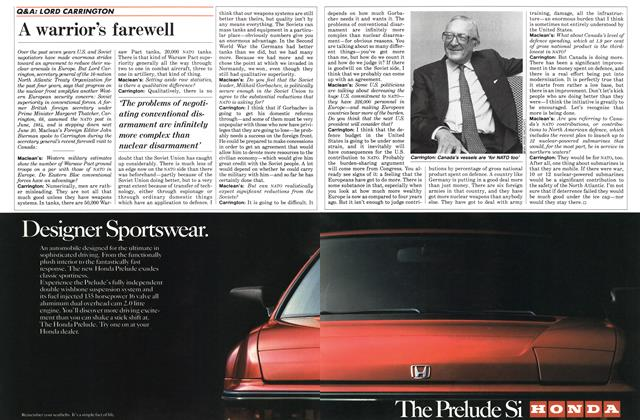 Article Preview: A warrior's farewell, April 1988 | Maclean's