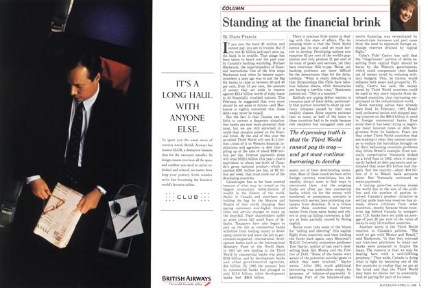 Article Preview: Standing at the financial brink, April 1988 | Maclean's