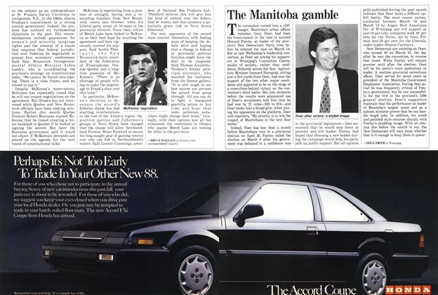 Article Preview: The Manitoba gamble, April 1988 | Maclean's