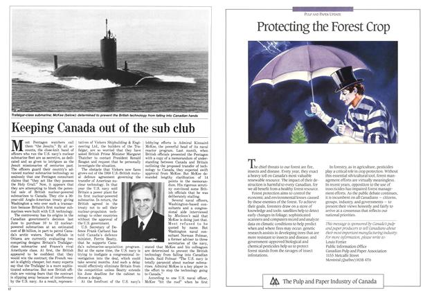 Article Preview: Keeping Canada out of the sub club, April 1988 | Maclean's