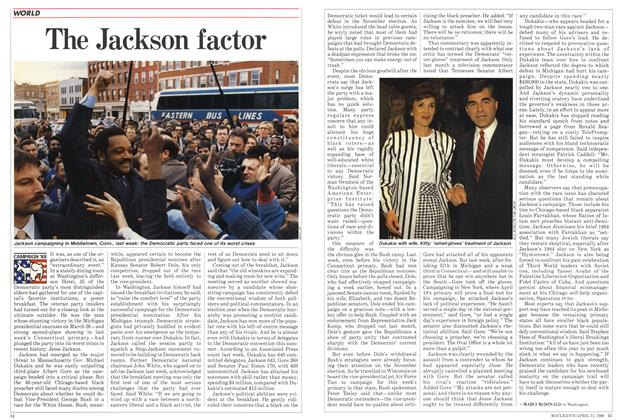 Article Preview: The Jackson factor, April 1988 | Maclean's