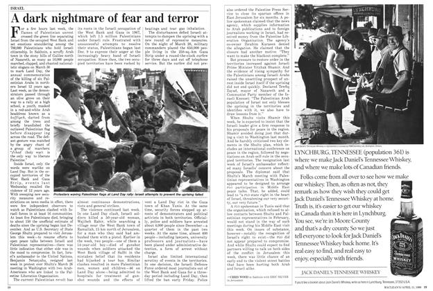 Article Preview: A dark nightmare of fear and terror, April 1988 | Maclean's