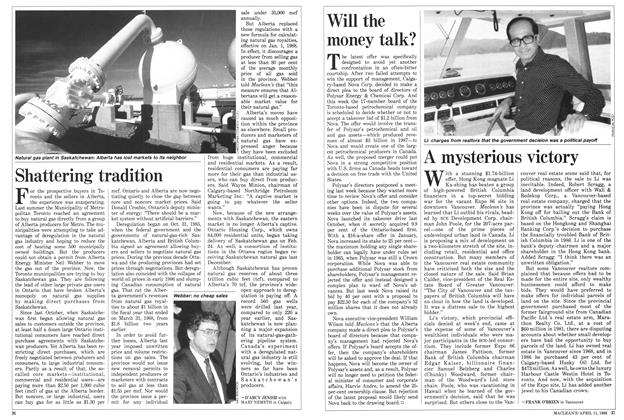 Article Preview: Shattering tradition, April 1988 | Maclean's