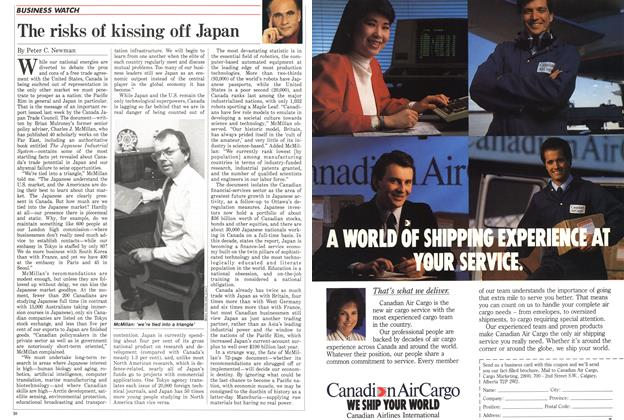 Article Preview: The risks of kissing off Japan, April 1988 | Maclean's