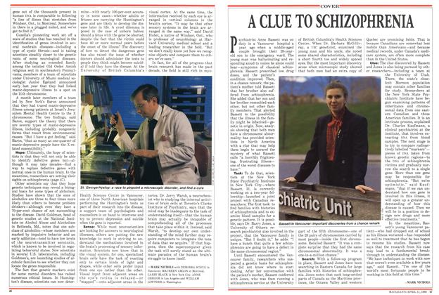 Article Preview: A CLUE TO SCHIZOPHRENIA, April 1988 | Maclean's