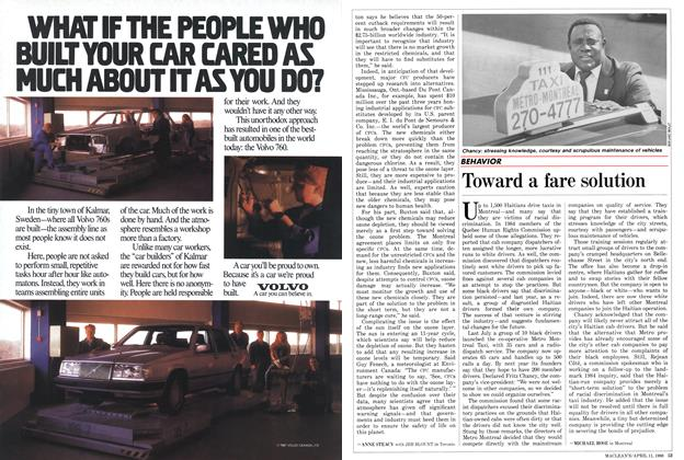 Article Preview: Toward a fare solution, April 1988 | Maclean's