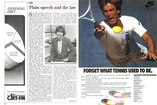 Article Preview: Plain speech and the law, April 1988 | Maclean's