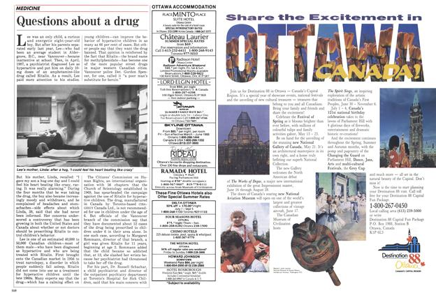 Article Preview: Questions about a drug, April 1988 | Maclean's