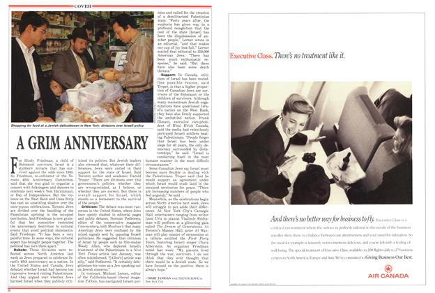 Article Preview: A GRIM ANNIVERSARY, April 1988 | Maclean's