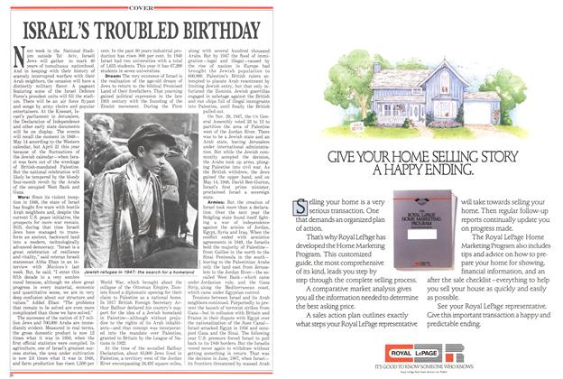 Article Preview: ISRAEL'S TROUBLED BIRTHDAY, April 1988 | Maclean's