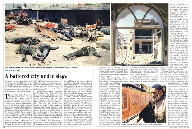 Article Preview: A battered city under siege, April 1988 | Maclean's