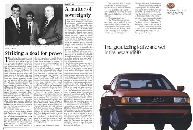 Article Preview: Striking a deal for peace, April 1988 | Maclean's