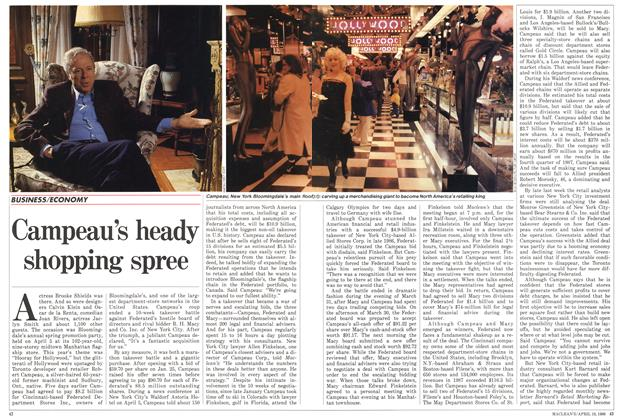 Article Preview: Campeau's heady shopping spree, April 1988 | Maclean's