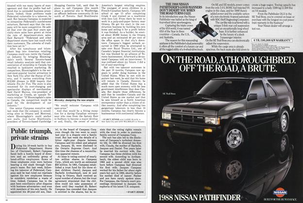 Article Preview: Public triumph, private strains, April 1988 | Maclean's