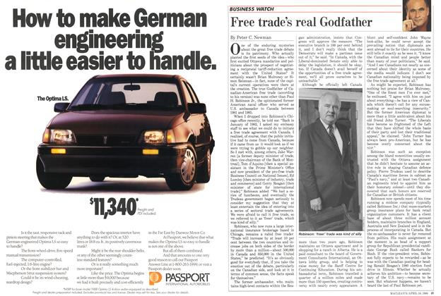 Article Preview: Free trade's real Godfather, April 1988 | Maclean's