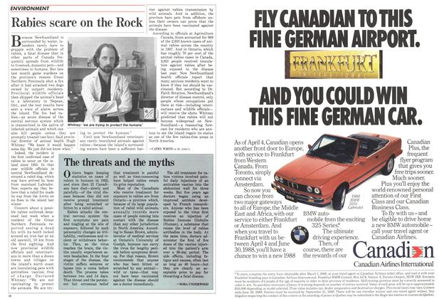 Article Preview: The threats and the myths, April 1988 | Maclean's