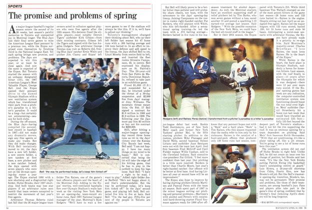 Article Preview: The promise and problems of spring, April 1988 | Maclean's
