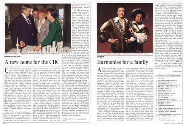 Article Preview: MACLEAN'S BEST-SELLER LIST, April 1988 | Maclean's