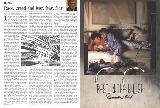 Article Preview: Race, greed and fear, fear, fear, April 1988 | Maclean's