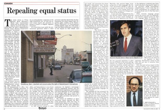 Article Preview: Repealing equal status, April 1988 | Maclean's