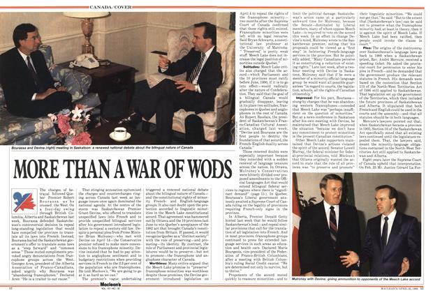 Article Preview: MORE THAN A WAR OF WORDS, April 1988 | Maclean's