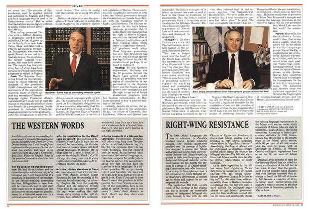 Article Preview: RIGHT-WING RESISTANCE, April 1988 | Maclean's