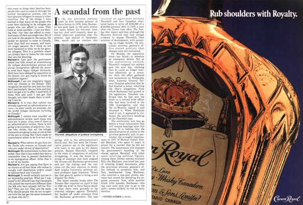 Article Preview: A scandal from the past, April 1988 | Maclean's