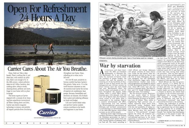 Article Preview: War by starvation, April 1988 | Maclean's