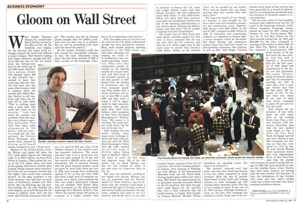 Article Preview: Gloom on Wall Street, April 1988 | Maclean's