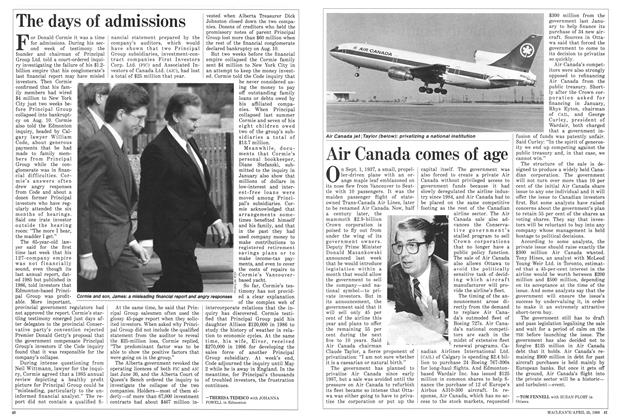Article Preview: Air Canada comes of age, April 1988 | Maclean's