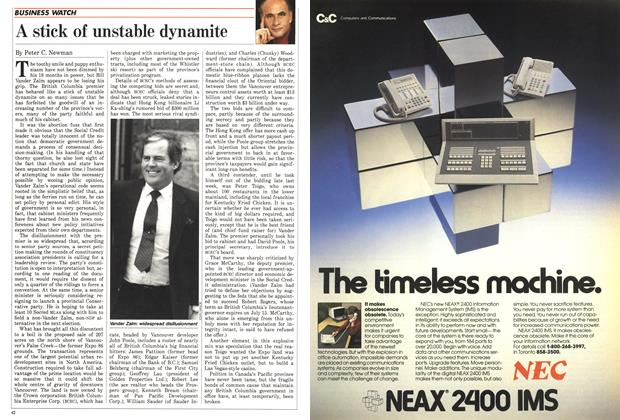 Article Preview: A stick of unstable dynamite, April 1988 | Maclean's