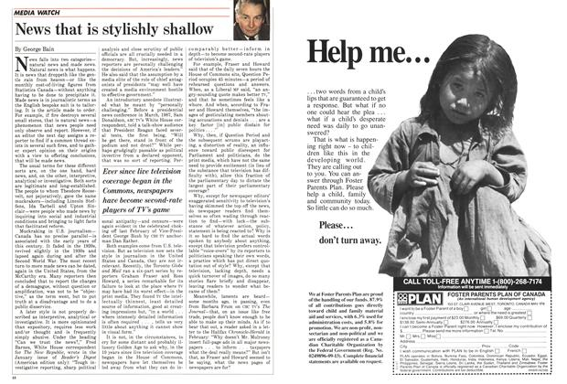 Article Preview: News that is stylishly shallow, April 1988 | Maclean's