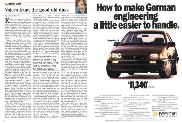 Article Preview: Voices from the good old days, April 1988 | Maclean's
