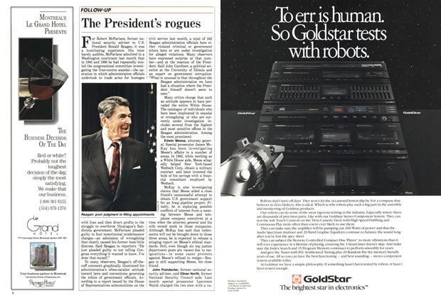 Article Preview: The President's rogues, April 1988 | Maclean's