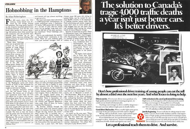 Article Preview: Hobnobbing in the Hamptons, April 1988 | Maclean's