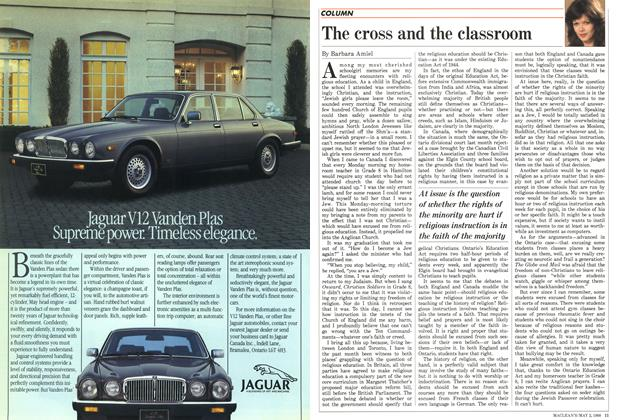 Article Preview: The cross and the classroom, May 1988 | Maclean's