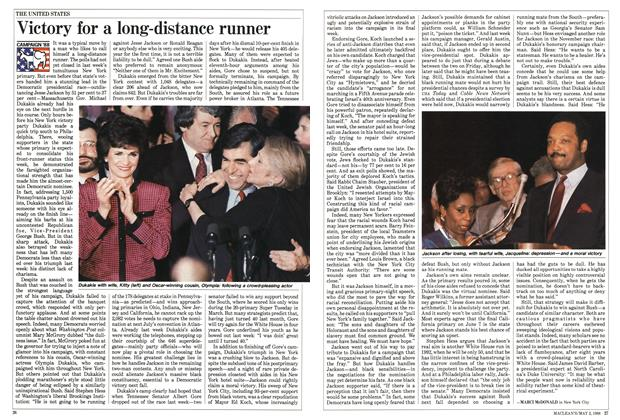 Article Preview: Victory for a long-distance runner, May 1988 | Maclean's