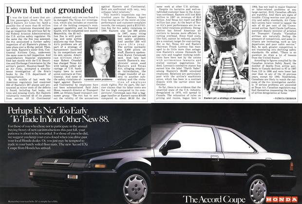 Article Preview: Down but not grounded, May 1988 | Maclean's