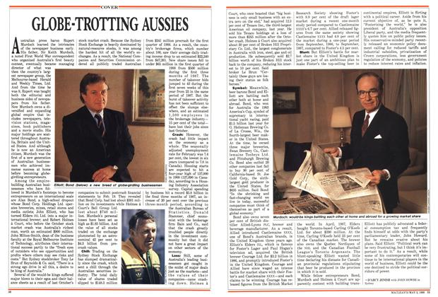 Article Preview: GLOBE-TROTTING AUSSIES, May 1988 | Maclean's