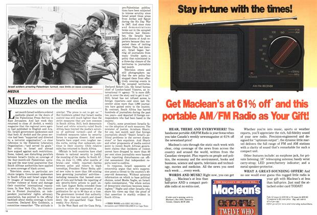 Article Preview: Muzzles on the media, May 1988 | Maclean's
